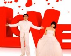 喜庆的红色婚礼片头会声会影模板