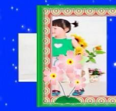 相框放大镜效果宝宝视频相册模板