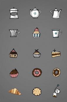 卡通 蛋糕 下午茶  小点心