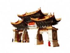 中式复古城门楼元素
