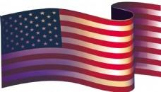 手绘条纹国旗元素