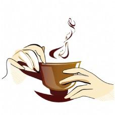 手绘休闲咖啡元素