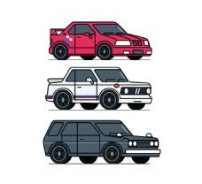 汽车插画图标设计