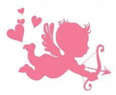粉色比卡丘剪影