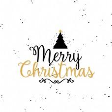 圣诞节艺术字创意文字设计矢量
