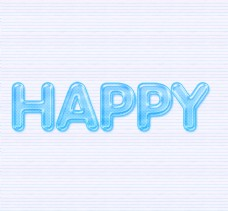 蓝色卡通糖果字体