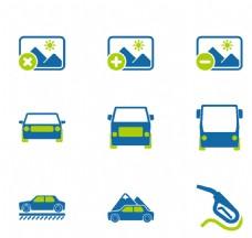 汽车卡通蓝色小图标