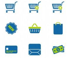 购物主题蓝色小图标