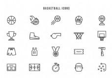 篮球比赛图标矢量素材