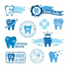 绿色健康牙科牙齿治疗医疗图标元素机构