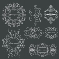 欧式创意弯曲边框矢量素材