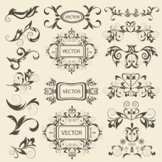 复古装饰边框矢量素材