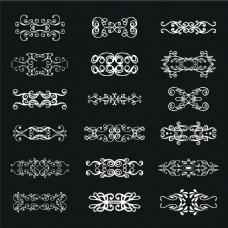 欧式花纹复古装饰边框元素矢量