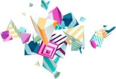 手绘彩色几何元素