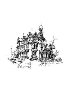 钢笔画欧式建筑元素