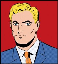 美国人欧美卡通海报漫画风格人物矢量素材