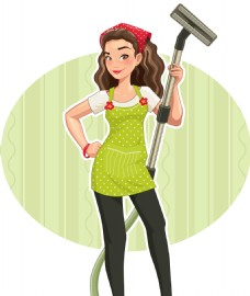 做家务的女人插画