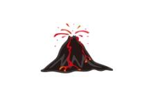 火山爆发矢量图