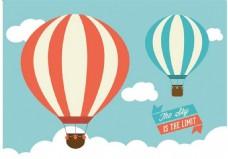 热气球矢量素材