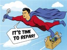 超人欧美卡通海报漫画风格人物矢量素材