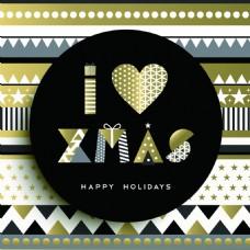 圣诞节背景金色设计矢量