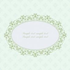 绿色蕾丝花边复古典雅矢量纹理背景