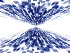蓝色几何方块矢量素材