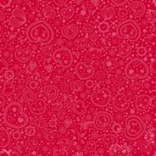 红色花纹背景素材