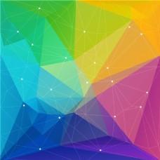 彩色几何背景渲染背景矢量EPS素材