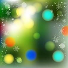 彩色光点梦幻光圈矢量背景素材