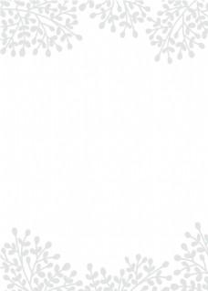 白色素雅波西米亚水彩花朵邀请卡背景