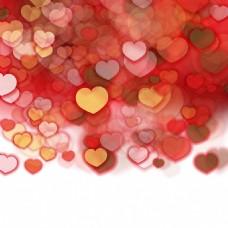 红色爱心图案矢量素材