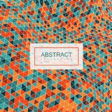 橙色几何卷曲时尚彩色光泽的抽象背景