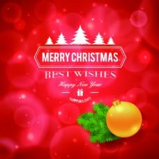 红色圣诞节海报温馨背景装饰元素