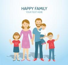 快乐家庭矢量背景