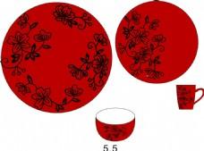 矢量陶瓷套装原创设计