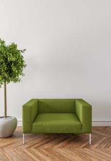 盆景沙发简约家装客厅效果图