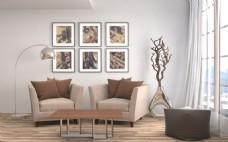 现代客厅效果图素材