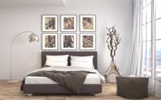 白色客厅卧室效果图图片