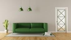 温馨风绿色环保客厅家装效果图下载