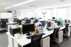 办公室效果图室内效果会议室大厅办公桌桌椅
