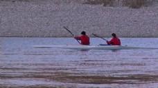 人物划船视频素材