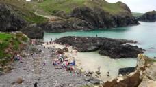 海滩人物视频素材