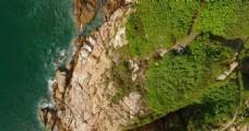 航拍小岛风景视频