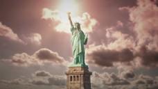 旅游自由女神像视频