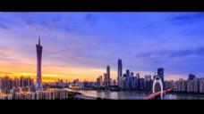 城市景观人物视频