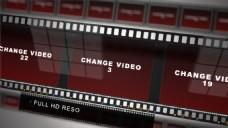 电影胶片中的宣传震撼片头展示模版
