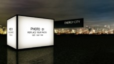 三维城市图片ae模版