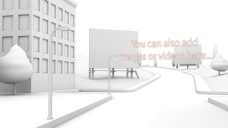 白色街道城市广告牌中的图片展示模版