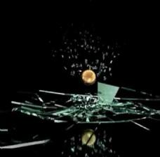 [会声模板]玻璃碎片相册模板